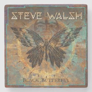Porta-copo De Pedra Porta copos preta da borboleta de Steve Walsh