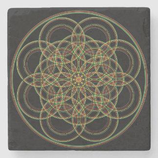 Porta-copo De Pedra Porta copos sagrado da pedra da geometria