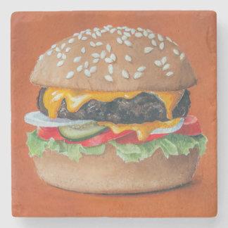 Porta-copo De Pedra Portas copos da pedra da ilustração do Hamburger