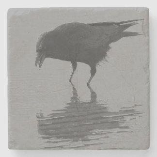 Porta-copo De Pedra Portas copos do corvo de Edgar Allan