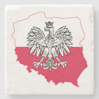 Porta-copo De Pedra Portas copos polonesas da bandeira do mapa
