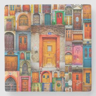 Porta-copo De Pedra Portas das belas artes da laranja do mundo