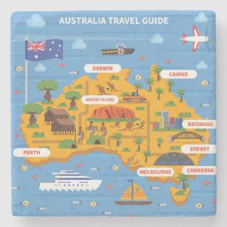 Porta-copo De Pedra Poster do guia do viagem de Austrália
