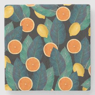 Porta-copo De Pedra preto dos limões e das laranjas