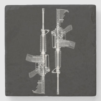 Porta-copo De Pedra Raio X do rifle AR-15 da arma real