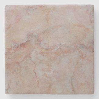 Porta-copo De Pedra Revestimento de pedra de mármore coral Salmon
