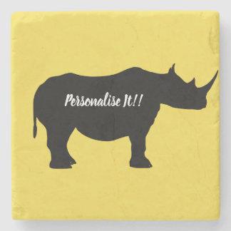 Porta-copo De Pedra Rinoceronte da silhueta