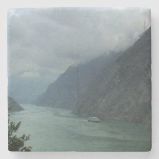 Porta-copo De Pedra Rio do chinês de China da ponte de barco
