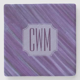 Porta-copo De Pedra Roxo violeta | do Lilac indiferente do monograma