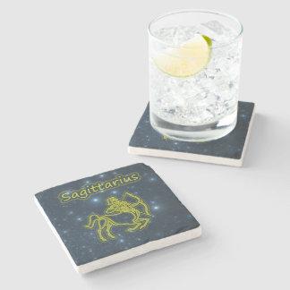 Porta-copo De Pedra Sagitário brilhante