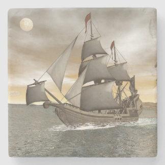 Porta-copo De Pedra Sair do navio de pirata - 3D rendem