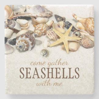 Porta-copo De Pedra Seashells