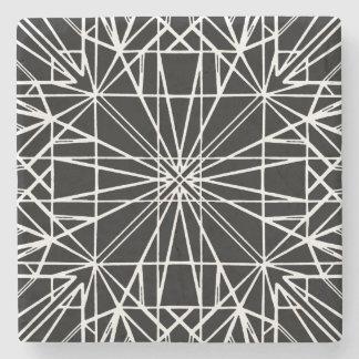 Porta-copo De Pedra Simetria geométrica preta & branca
