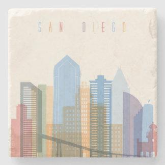Porta-copo De Pedra Skyline da cidade de San Diego