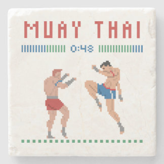 Porta-copo De Pedra Tailandês de Muay do pixel
