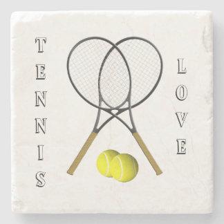 Porta-copo De Pedra Tema do esporte do tênis dos dobros pessoal