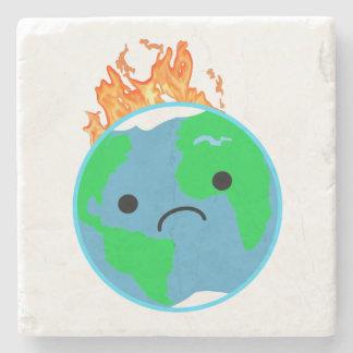 Porta-copo De Pedra Terra no fogo