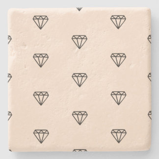 Porta-copo De Pedra Teste padrão chique bonito do rosa do diamante