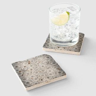 Porta-copo De Pedra Teste padrão de pedra de Petoskey