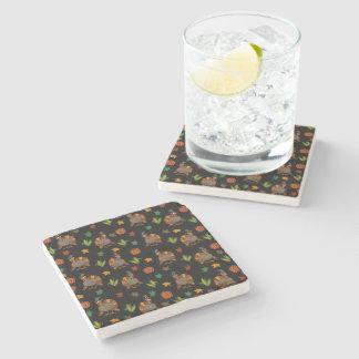 Porta-copo De Pedra Teste padrão de Turquia da acção de graças