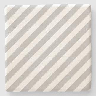 Porta-copo De Pedra Teste padrão diagonal do cinza e o branco das