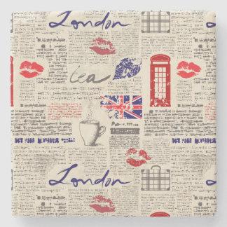 Porta-copo De Pedra Teste padrão do jornal de Londres