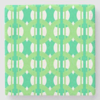 Porta-copo De Pedra Teste padrão verde e azul do elo de corrente