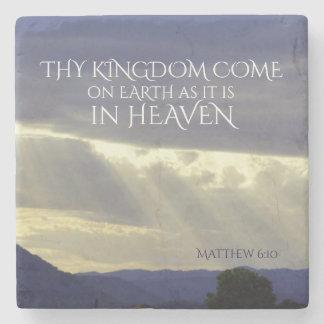 Porta-copo De Pedra Thy fim dos tempos na terra como no céu, bíblia