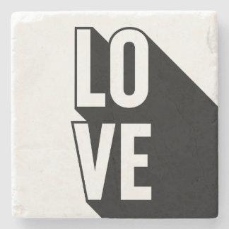 Porta-copo De Pedra Tipografia longa retro da sombra do amor