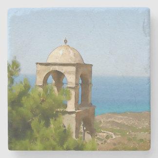 Porta-copo De Pedra Torre de sino da aguarela
