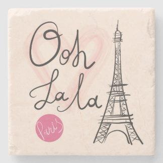 Porta-copo De Pedra Torre Eiffel tirada mão