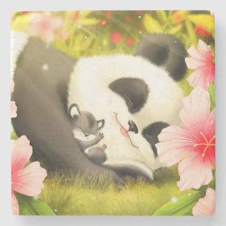 Porta-copo De Pedra Urso de panda