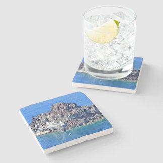 Porta-copo De Pedra Vista panorâmica de Santorini