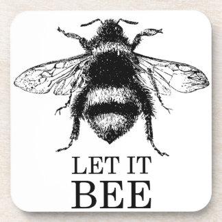 Porta-copo Deixado o a natureza do vintage da abelha Bumble a
