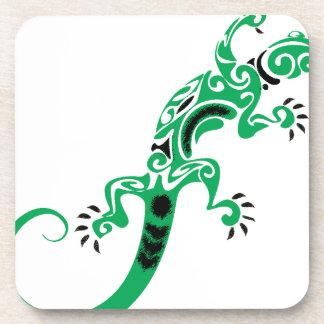 Porta-copo Desenho do lagarto verde