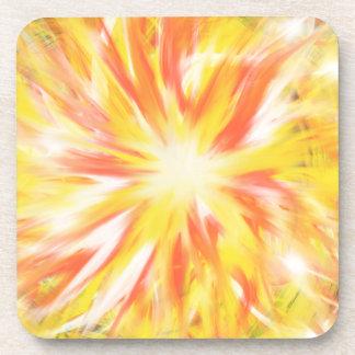 Porta-copo Design amarelo alaranjado da arte abstracta da