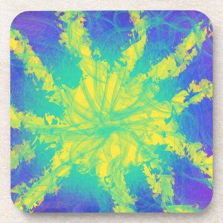 Porta-copo Design amarelo psicadélico da arte abstracta da
