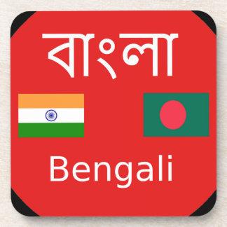 Porta-copo Design bengali da língua