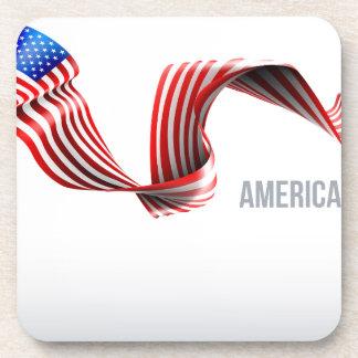Porta-copo Design da fita da bandeira americana