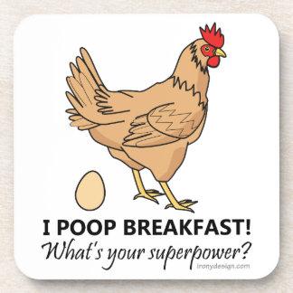 Porta-copo Design engraçado do pequeno almoço dos tombadilhos