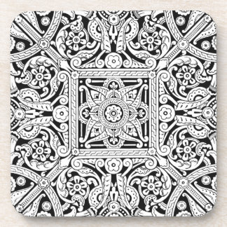 Porta-copo Design estilizado do painel de teto, 1870