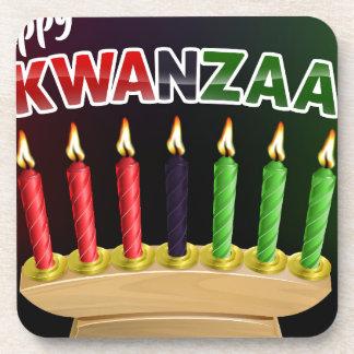 Porta-copo Design feliz das velas de Kwanzaa