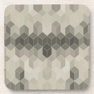 Porta-copo Design geométrico do cubo da escala cinzenta