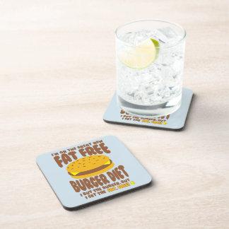 Porta-copo Dieta livre de gordura do hamburguer