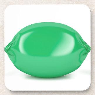 Porta-copo Doces duros envolvidos verde