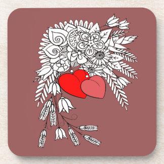 Porta-copo Dois corações 2