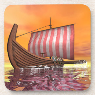 Porta-copo Drakkar ou navio de viquingue - 3D rendem