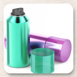 Porta-copo Duas latas de pulverizador do aerossol