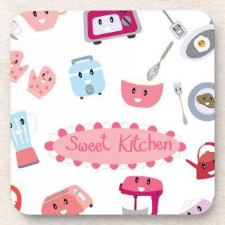 Porta-copo Eletricidade cor-de-rosa doce da cozinha e ícone