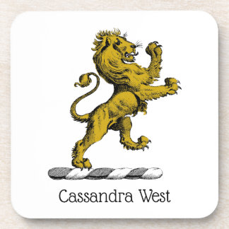 Porta-copo Emblema ereto C da crista do leão heráldico